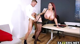 Chief Emma Butt blowjob Marc Roses massive cock