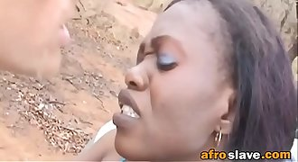 African slave forced to ride white dick outdoorsfick-vol1-3-edit-ass-2