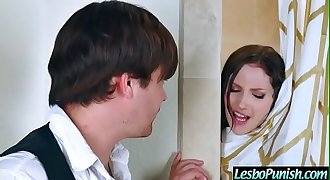 Naughty Lesbians (ellena&amp_skin) In Punish Sex Scene Using Toys mov-17