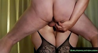 Rough Double Anal Fuck Wife