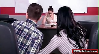 Big tits get fucked in classroom by teacher 26