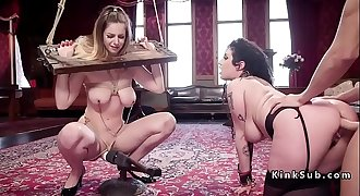 Hot fan babe gets gimp training