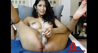 Spicy Minx Asian Mature Shows Her Playful Pussy