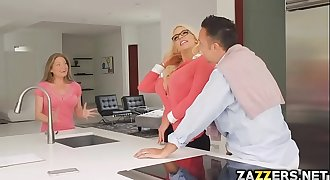 Keiran Lee banged big tittied Nicolette'_s pink pussy