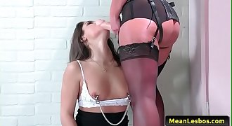 Hot and Mean Lesbians - Boss Dominates Horny Employee with Abella Danger &amp_ Phoenix Marie 02